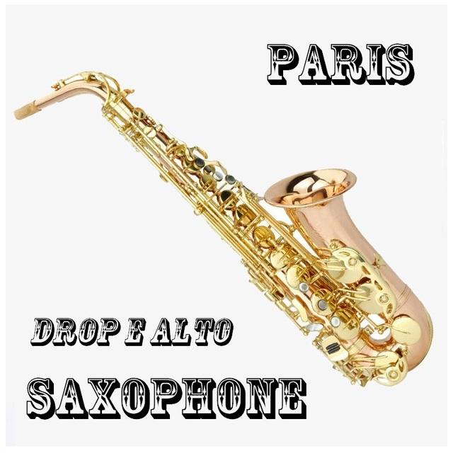 Cheap French falling tune E alto saxophone instruments, phosphorus copper quality professional level gold saxophone