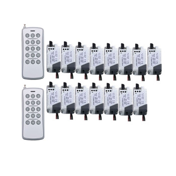 AC 220V 10A RF Wireless Remote Control Relay Switch Security System tubular motor garage door shutters/ lamp