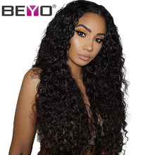 Peruvian Wig Lace Front Human Hair Wigs Pre Plucked Water Wave Lace Front Wig With Baby Hair Remy Wigs For Black Women Beyo Hair(China)