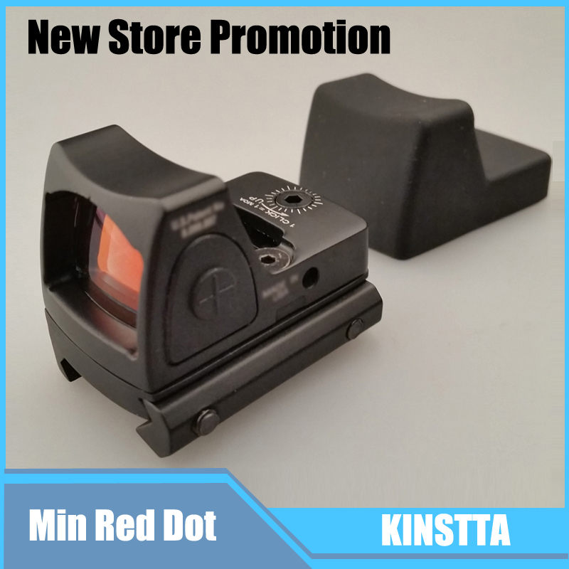 2016 KINSTTA Military Tactical Reflex Adjustable Mini Red Dot Sight Scope for Rifle Scope Hunting Shooting CS Sight new canislatrans tactical military 4x 12x 4 12x44 spotting rifle scope for cs game real hunting shooting cl1 0305