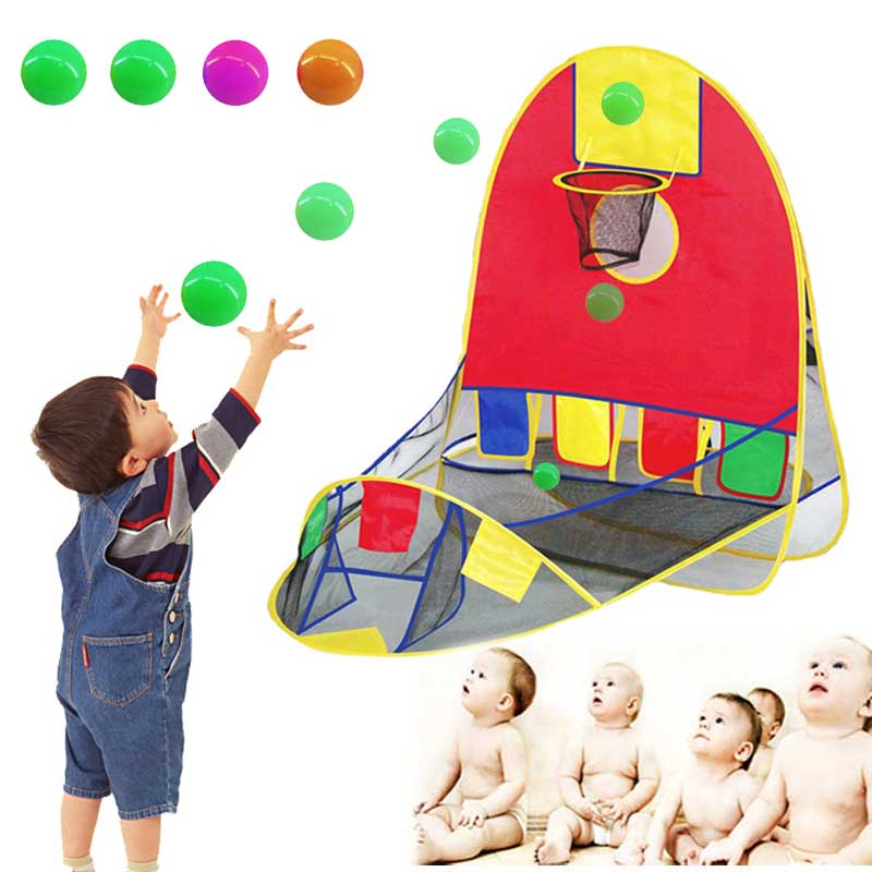 Kids House Basketball Basket Tent Beach Lawn Tent Ball Pool Indoor&Outdoor Sport Best Kid Toys M09
