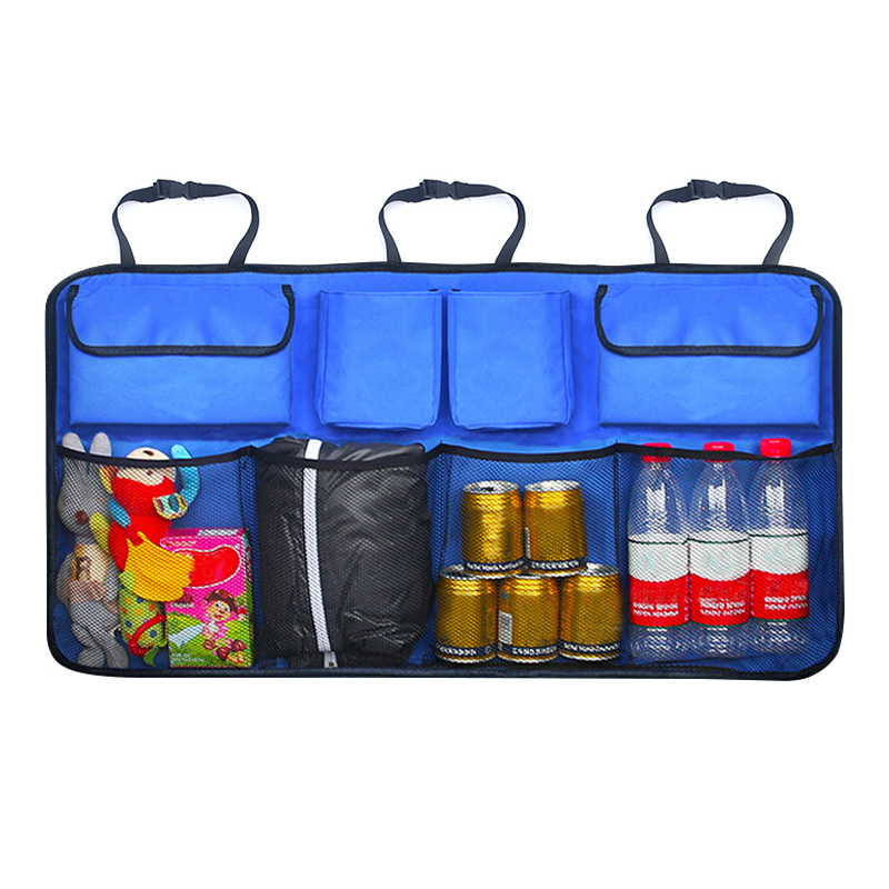 Auto asiento trasero trasera de almacenamiento de bolsa de colgando redes bolsillo maletero bolsa organizador Auto guardar orden Interior Accesorios