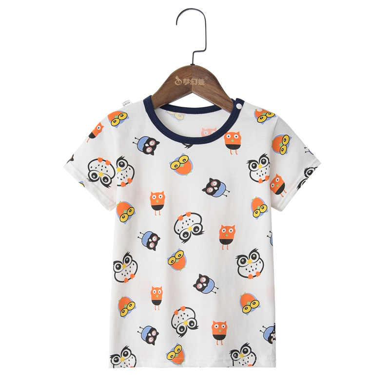 ¡Novedad de 2019! camisetas informales para bebés, camisetas de algodón a la moda con estampado solar para niñas, camisetas de verano para niños, camisetas de 2 a 6 años