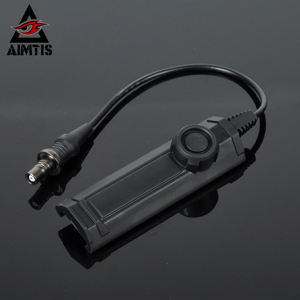 AIMTIS Weapon Light Switch Assembly Flashlight Accessory Tape Switch for M300 M600 Series M951 M952 M620 Install on 20mm Rail