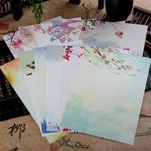 8 шт. в партии старинные китайский стиль конверт бумажный милый цветок Письмо бумаги для детей подарок корейский Канцелярские Бесплатная доставка 833