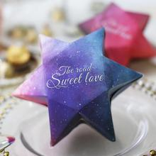 20pcs/lot Wedding Candy Box Six-pointed Star Gift Boxes Baby Shower Birthday Party Cartoon Diameter 15.5cm