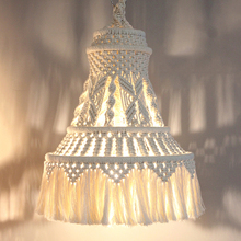 Lampshade Wall tapestry decoration Macrame Bohemia Handcraft Tassel Tapestry Background wall moroccan decor