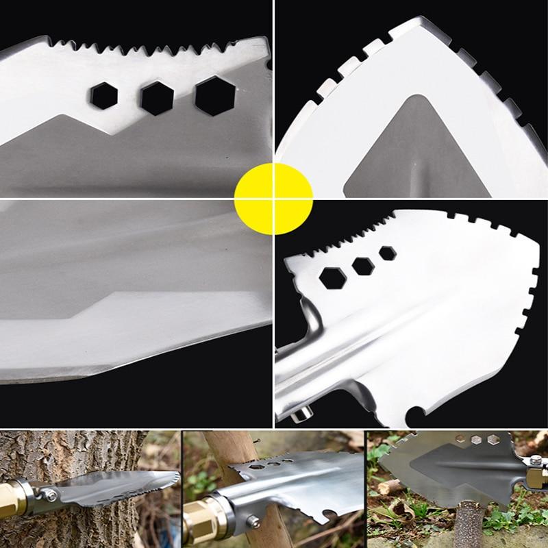 Garden Camping Shovels Multifunctional Chinese Military Folding Shovel Outdoor Survival Pocket Tools Aluminium Alloy Handle