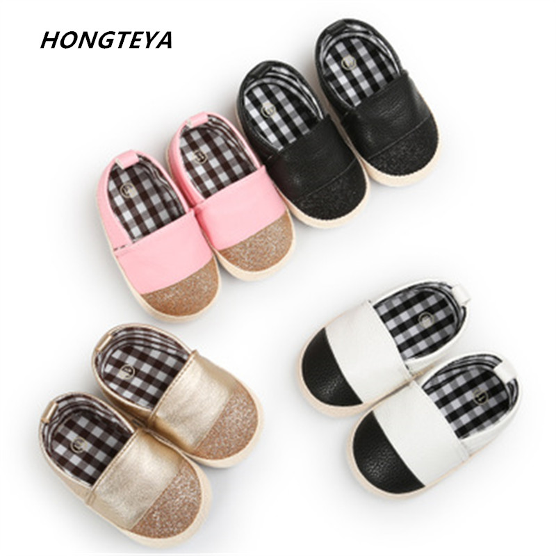 Baby shoes Fashion mix color pu leather baby moccasins soft bottom Newborn baby girls and boys shallow sneakers shoes for 0-18M