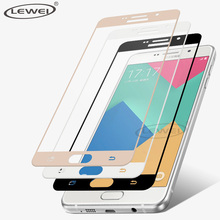 LEWEI Full Cover 2.5D Tempered Glass For Samsung Galaxy A5 A3 A7 2016 2017 Screen Protector Case for Note 4 5 S5 S6 S7