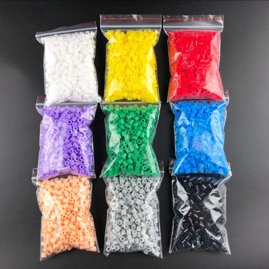 Free Shipping  Fuse Beads  5mm Hama Beads About 500pcs/bag 9 Colors PUPUKOU Beads A Total Of 4500pcs Puzzles