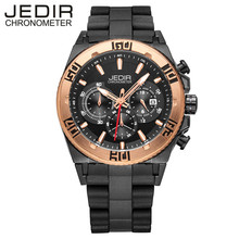 JEDIR Men Watches Top Luxury Brand Chronograph Function Men Casual Quartz Watch Men Running Sports Waches Relogio Masculino 3009