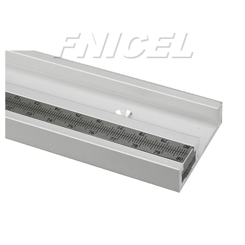 Aluminum Alloy T-Track Woodworking T-slot Miter Track with Scale for Router Table Bandsaws Woodworking ToolsAluminum Alloy T-Track Woodworking T-slot Miter Track with Scale for Router Table Bandsaws Woodworking Tools