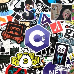 Image 3 - 72Pcs/Pack Programmer Graffiti Stickers Hacker Programming Java For Luggage Skateboard Laptop Motorcycle PVC Sticker For Kid