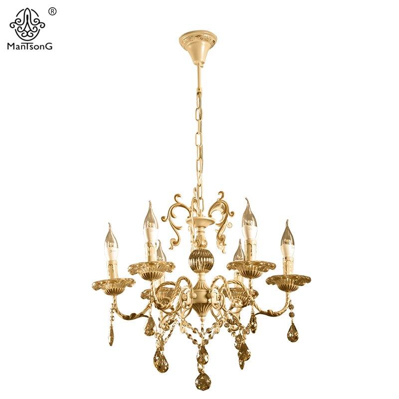 цены на Luxury Crystal Pendants Vintage Candle Chandeliers Lights Pendant Lamp for Bedroom Living Room Europe Home Lighting Pendant Lamp в интернет-магазинах