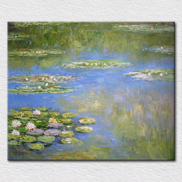 Lotus étang photos pour salon mur décoratif peinture à l'huile reproduction toile art pour amis cadeau