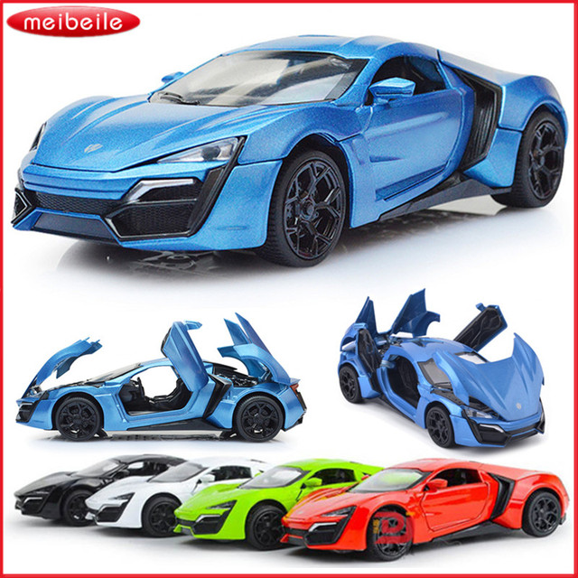 132 lykan hypersport model pull back toys cars gift for boys kids collection alloy