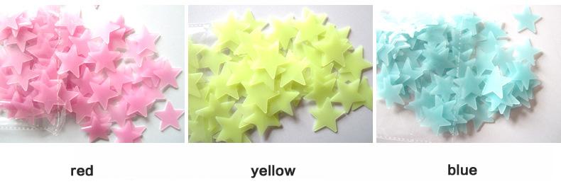 HTB1IZWENpXXXXbIXXXXq6xXFXXXT - New Hot 50pcs 3D Stars Glow In The Dark Luminous Fluorescent Plastic Wall Stickers Living Home Decor For Kids Rooms