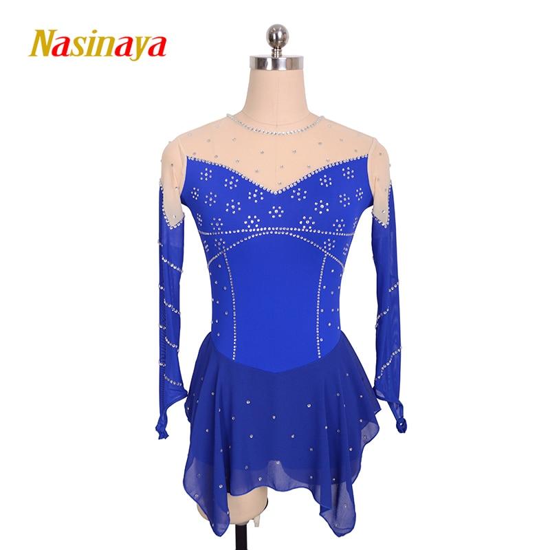 Nasinaya Figure Skating Dress Customized Competition Ice Skating Skirt for Girl Women Kids Gymnastics Performance