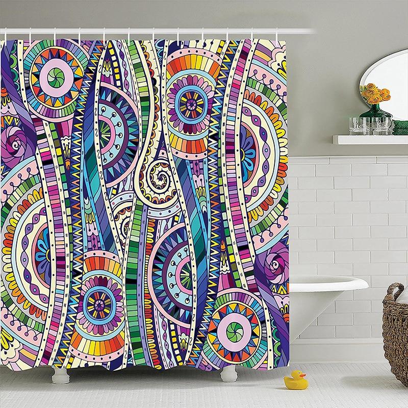 Mosaic Style Colorful Illustration Flower Pattern