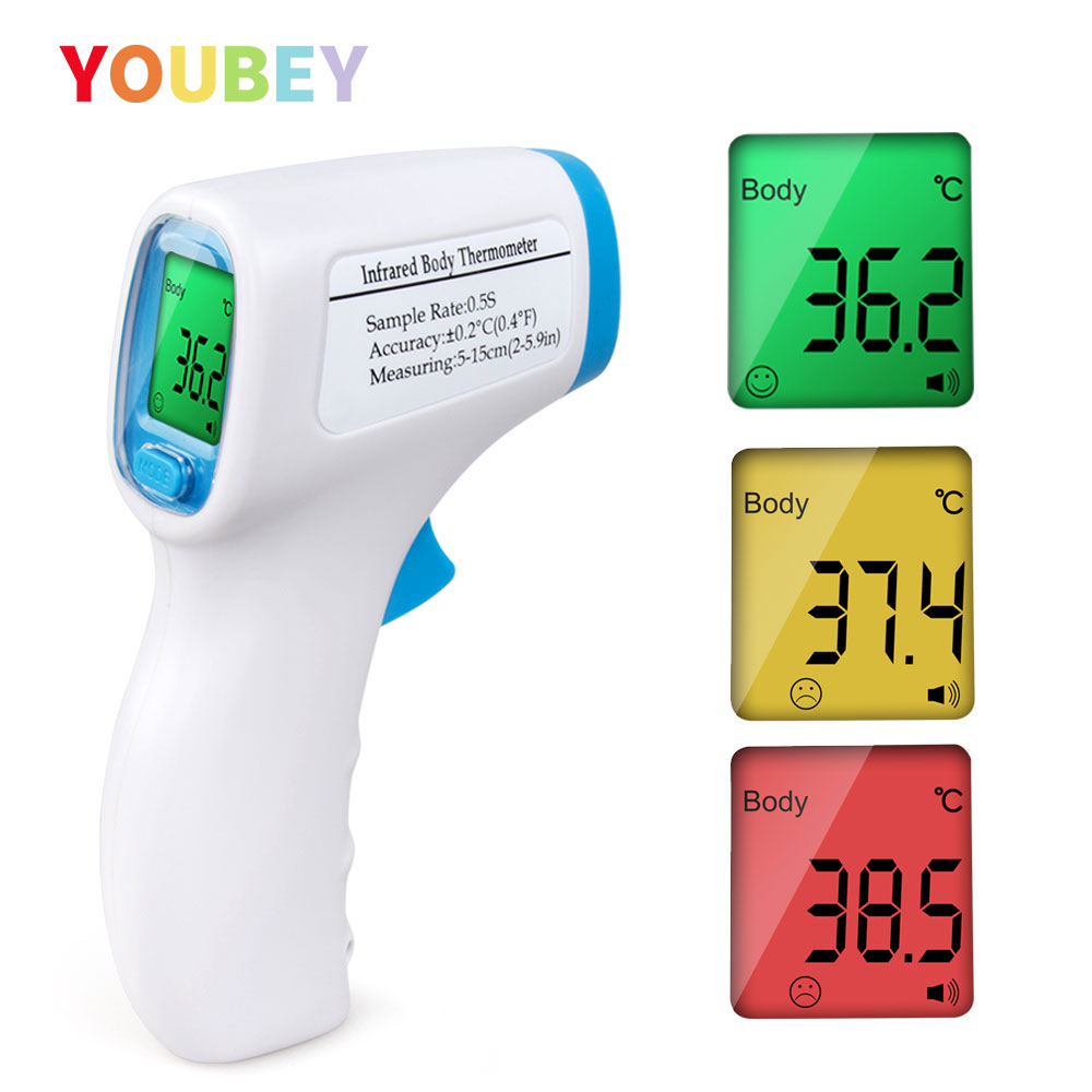 Baby Thermometer Digital Body Temperature Measurement Non-Contact Infrared LCD Back Light Thermometer Baby & Adult Drop Shipping