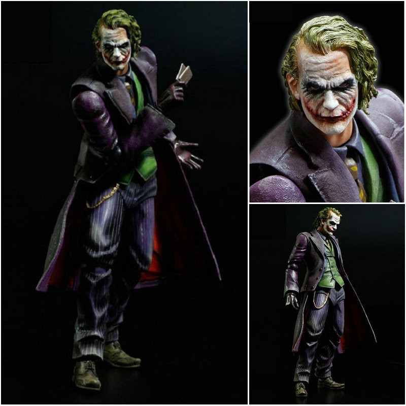 PLAY ARTS KAI Batman The Dark Knight The Joker Brinquedos PVC Action Figure Collectible Model Doll Kids Toys 27cm 27cm play arts kai batman arkham knight pvc action figure collectible model toy bat man series movie figure kids diy model toys