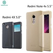 Xiaomi Redmi Note 4X чехол Xiaomi Redmi 4x чехол Nillkin Sparkle искусственная кожа флип чехол пластика задняя крышка кожаный телефон Корпус