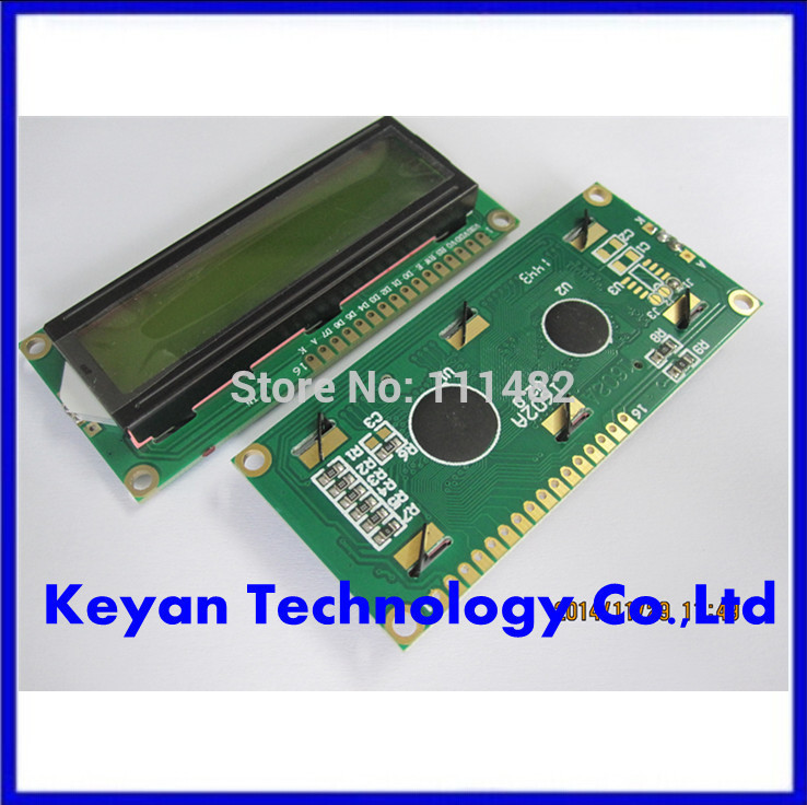 5pcs/lot 1602 LCD 16*2 Character LCD Module Display/LCM with Yellow Green