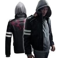 Новый прототип Алекс Мерсер косплей костюм куртка с вышивкой PU кожаные пальто костюмы на Хэллоуин для женщин/мужчин на заказ