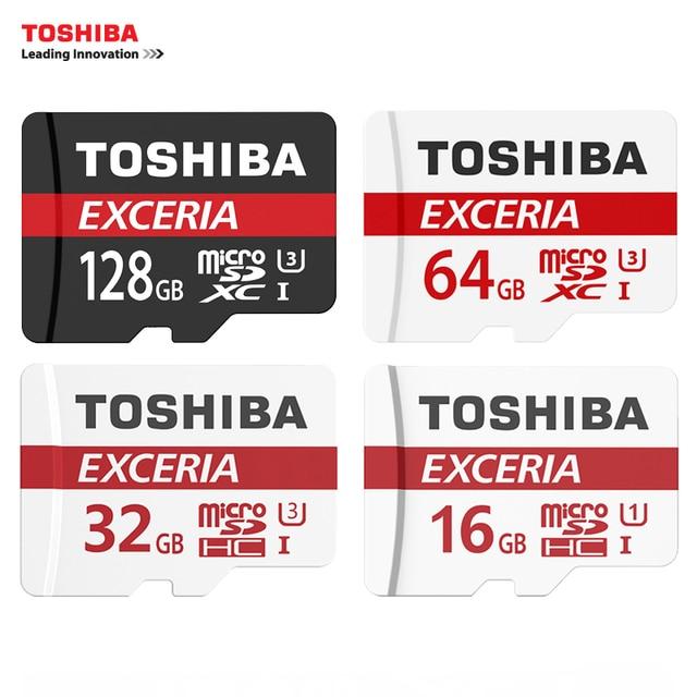 Toshiba карты памяти 128 ГБ 64 ГБ 32 ГБ uhs-3 максимальная скорость чтения 90 м/с 16 ГБ карта micro sd class10 uhs-1 карт флэш-карты памяти Microsd