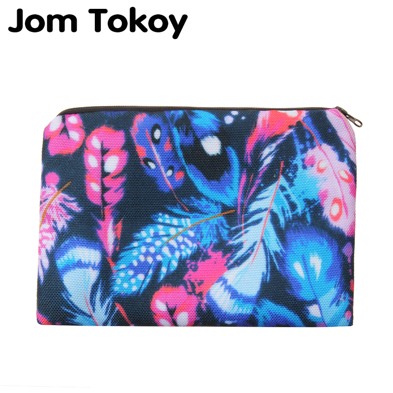 Colored feathers Portable Type Make up Bags Cosmetic Case Maleta de Maquiagem Bags Storage Travel Makeup Bag Brand Pencil case msq make up bag pink and portable cosmetic bags for professional makeup artist toiletry case new arrival