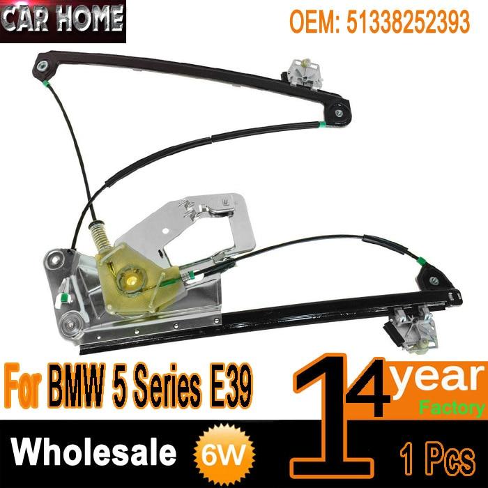 New Power Window Regulator Rear Driver Left LH for BMW E39 5 Series 525i 530i