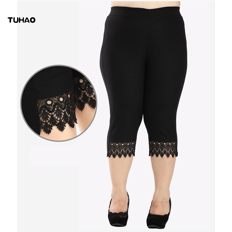 86461cc1923 TUHAO large sizes of women s clothing Summer Women s Pants 2018 Casual  Straight Calf Length Pant Women Plus Size 8XL 10XL YB07