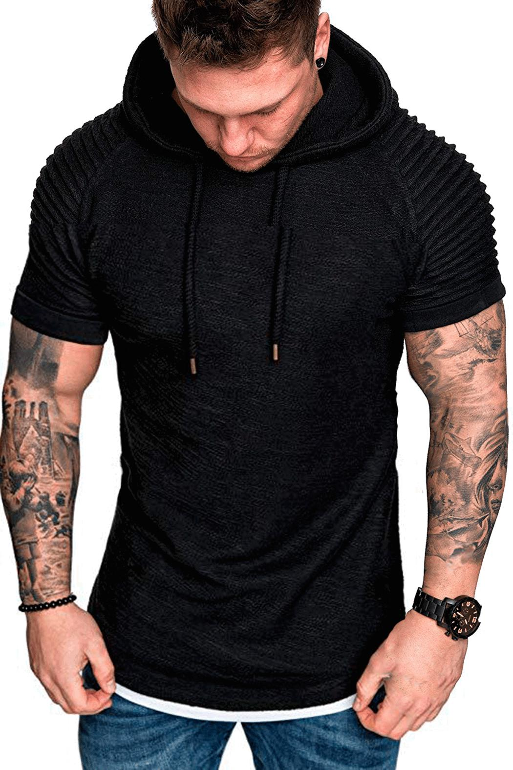 Japanese Style Men/'s Hooded Short Sleeve T-shirt Students Summer Tops Plus Size