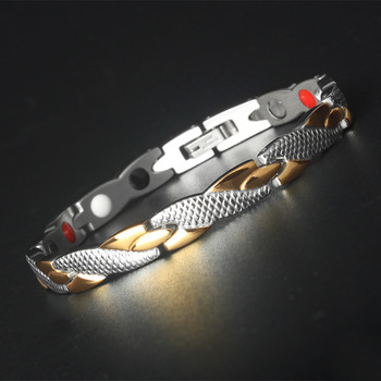 Health Titanium Bracelet lovers' Bio Energy Bangle Magnetic Health Care Bracelet for Women Men Jewelry Christmas gifts