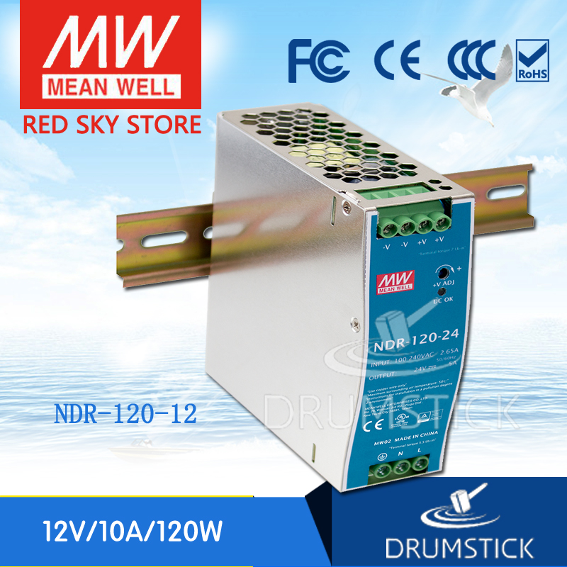 цена на Selling Hot MEAN WELL NDR-120-12 12V 10A meanwell NDR-120 12V 120W Single Output Industrial DIN Rail Power Supply