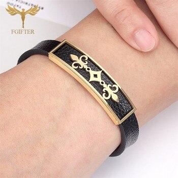 5a27a58db56b 2019 nuevo diseño de cuero genuino pulseras brazaletes para hombres mujeres  17 cm 19 cm 20 cm 21