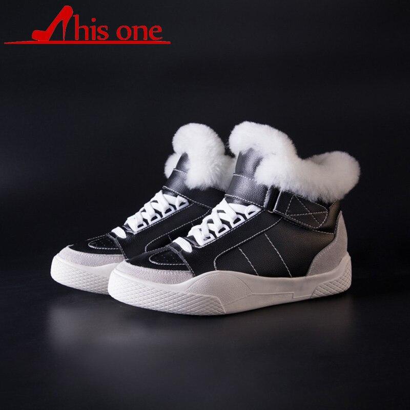 Femmes bottes d'hiver chaussures pour femmes plate-forme Pure laine plus Swing chaussures plates bottines femmes neige bottes coton rembourré pour les femmes