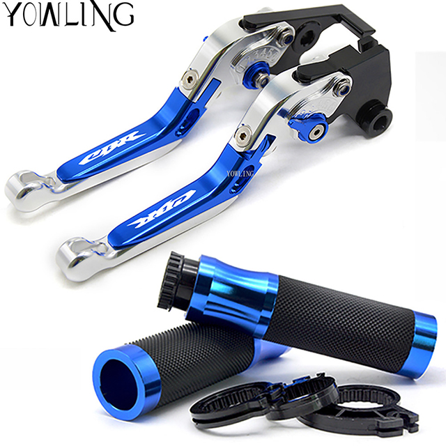 7/822mm Motorcycle CNC Hand Grips Handle Bar Grip + Brake Clutch Lever For honda CBR 600 F2 F3 F4 F4i 2000 - 2007 mf2300 f2