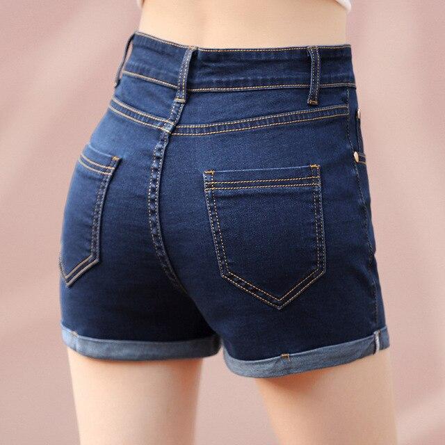 fec141759a2a2 Nouveau-Mode-Femmes-de-Jeans-D-t-Haute-Taille-Minceur-hanches-De-Levage- Short-En-Jean.jpg_640x640.jpg