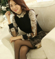 Free Shipping High Quality Autumn Winter New Arrival Plus Size High Collar Beads Decorated Gauze Long Sleeve Lace Blouse