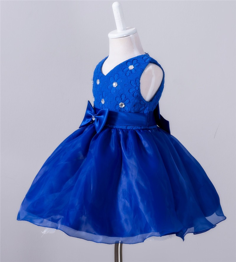 Baby Christening Bow Dress (2)