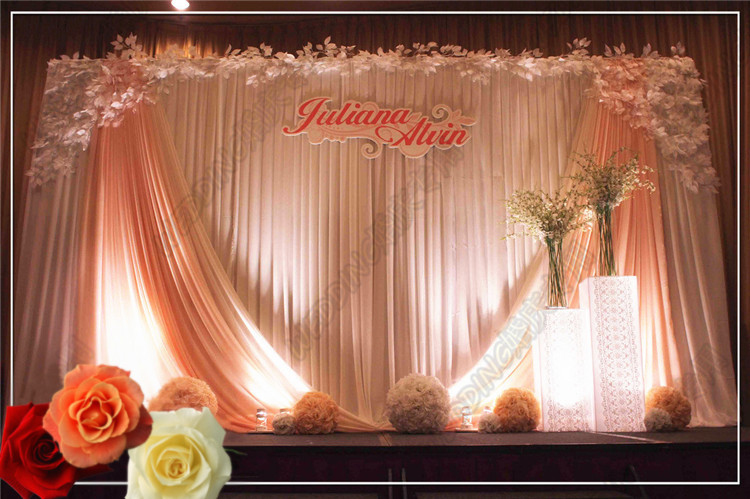10ft20ft Whitebaby Pink Backdrop Wedding Decoration Supplies