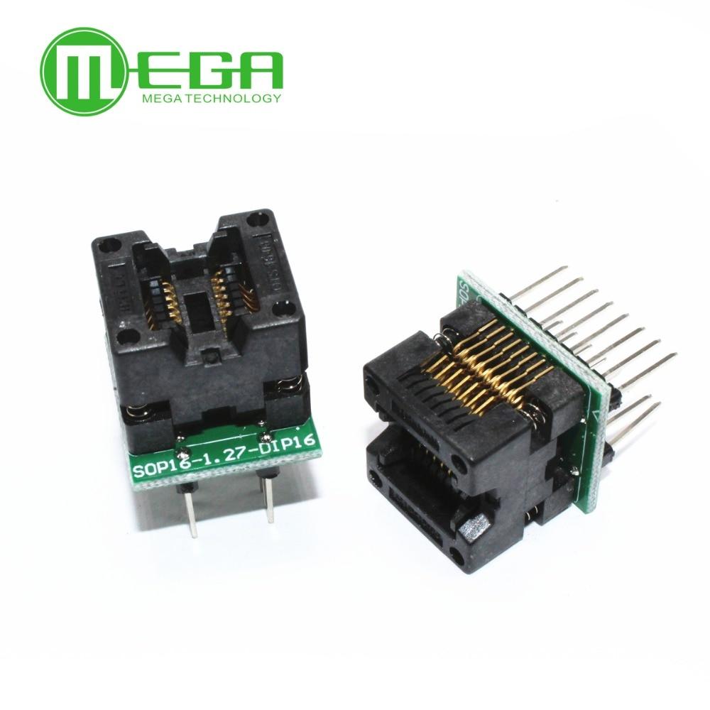 SOP16 TO DIP16 SOP16 Turn DIP16 SOIC16 To DIP16 IC Socket Programmer Adapter Socket 150mil