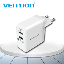 Vention Quick Charger 3.0 2 port USB Charger EU Plug White Mobile Phone Charger For XiaoMi HTC Google QC3.0 Fast Wall Charger 3a vention quick charger 3 0 2 port usb charger eu plug white mobile phone charger for xiaomi htc google qc3 0 fast wall charger 3a