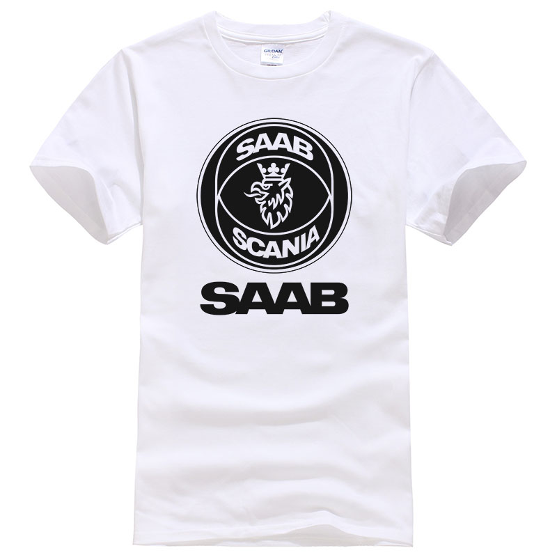 Nouveau Mode D'été Marque Scania T-shirt Coton Imprimé SCANIA Saab T-shirt Homme T-shirts Casual B2