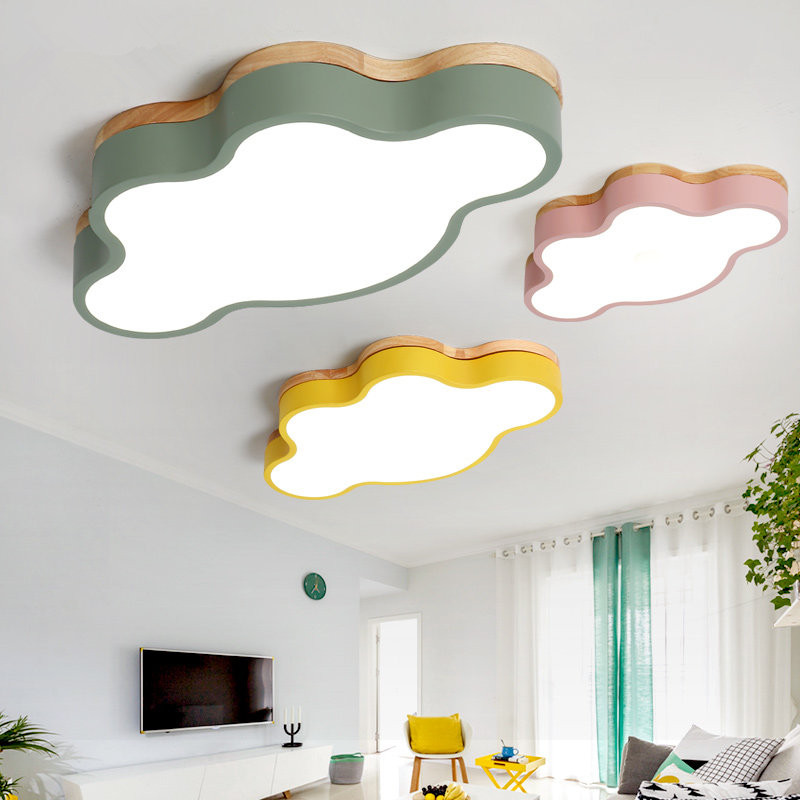 Modern LED Ceiling Lights colorful Cloud Ceiling Lamps for Living Room Kitchen Luminaria kids Children bedroom light fixtures eu 220v phone rc remote wireless control smart switch gsm socket power plug for home household appliance hot sale