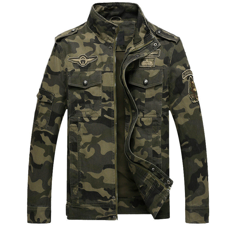 Mens Military Aeronautics Jacket Spring Winter Cotton Jackets for Men Fashion Windproof Camouflage Man Coat jaqueta masculina 2015 winter man casual high qaulity cotton jacket outdoors men coat jackets jaqueta masculina casaco masculino blazer