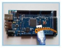 Mejor prices1set = 1 unids ADK Mega 2560 2012 ARM Versión Tarjeta de Control Principal + 1 unids USB, compatible con (google adk 2012) para arduino