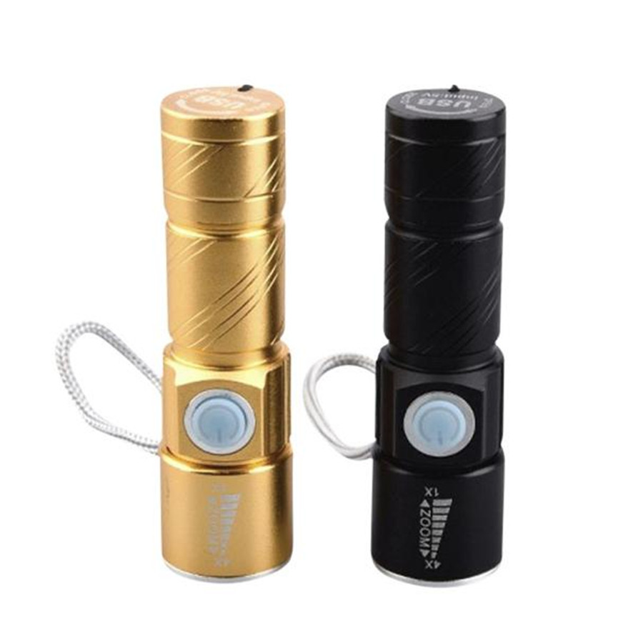 CARPRIE 2017 Outdoor Portable Mini USB Charging Zoom LED Flashlight Medical Troch Emergency Dropshipping 912